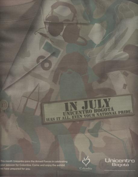 Imagen tomada del periódico bogotano The City Paper (julio de 2007)